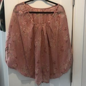 Tops - Floral Pink Blouse Size Medium.